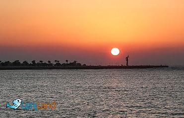 غروب دریای خلیج فارس